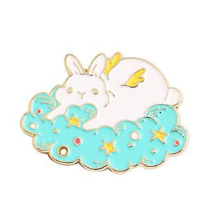 Customized rabbit cute badge