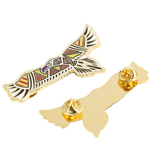 Creative men's Shirt Collar Coat eagle Badges Enamel lapel pin