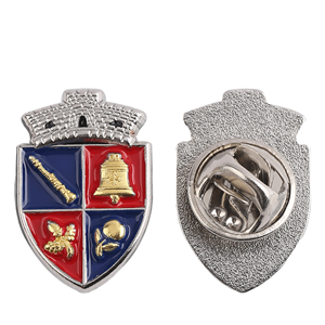 double-color police pin