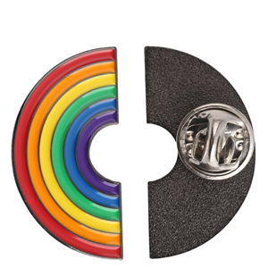 rainbow metal badge