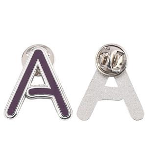 A letter purple badge