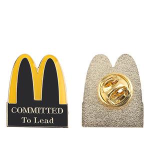 Mcdonald Brooch Beautiful Gift enamel Metal lapel pin