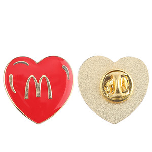 McDonald's red heart badge