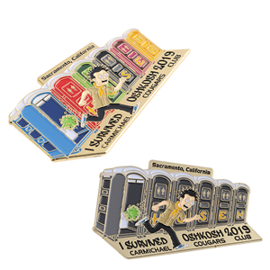 Cartoon colorful pin