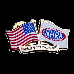 American Flag hard enamel badges