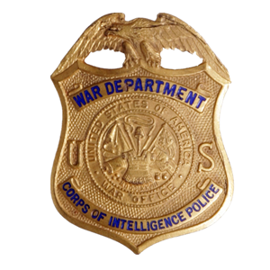 Corps of Intelligence Police badges