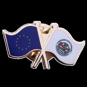 flag hard enamel with printing badge