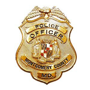 montgomery county police office badge