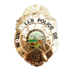 sioux falls police dept badge